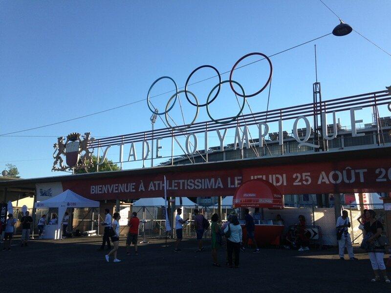 Wejście na stadion w Lozannie